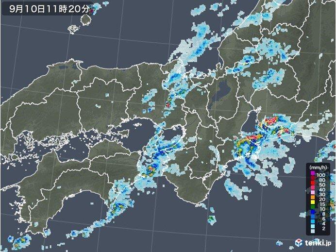 関西 10日は大気の状態が不安定 その後も雨の降る日が多い