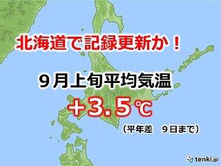 異例の残暑の北海道 高温の記録更新か