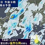 東海地方 あす明け方にかけて大雨厳重警戒