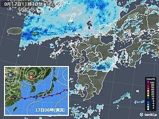 九州北部 秋雨前線活発 18日にかけて局地的に大雨のおそれ