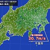 関東 南風強く 広く30℃超 東京都心1週間ぶり真夏日
