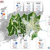 20日の関東 秋の涼しい空気に覆われる 所々で雨