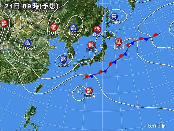 木曜日から前線や低気圧の影響で広く雨 北海道付近で雨雲発達し大雨の ...