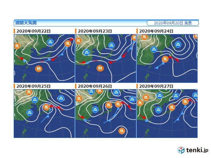 木曜日から前線や低気圧の影響で広く雨 北海道付近で雨雲発達し大雨の恐れ