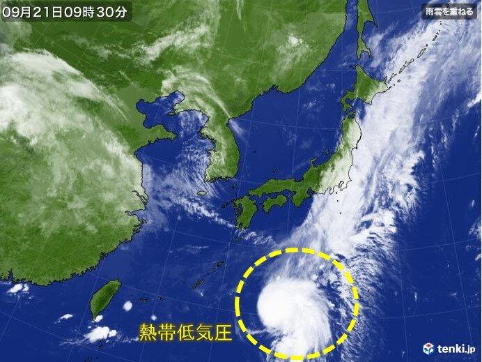 熱帯低気圧から台風へ発達