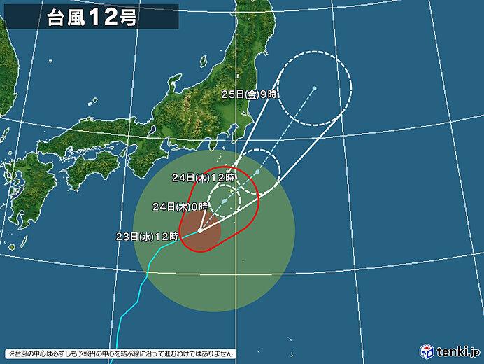 台風12号 東北への影響は