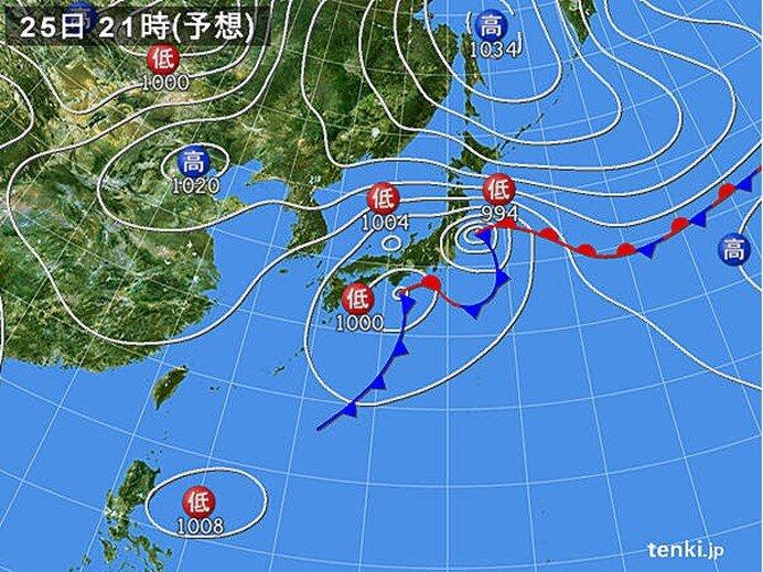 近畿 東北などで雨量が増える