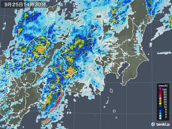 紀伊半島で猛烈な雨 活発な雨雲は東に 東北や北海道も大雨の恐れ