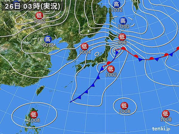 26日の関東地方 日中も雨具と上着を_画像