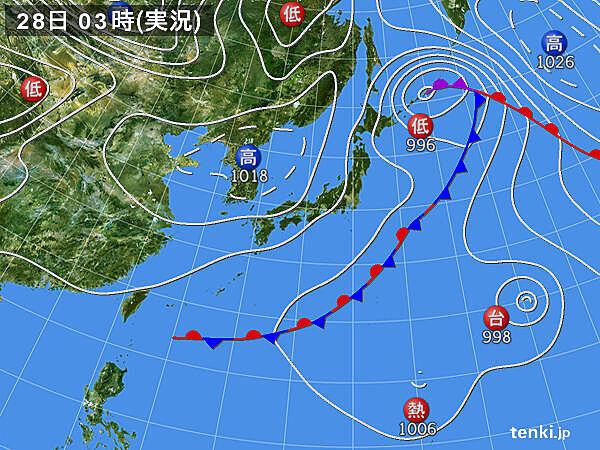 28日 関東以西は青空 にわか雨はごく一部 北陸以北も天気回復へ
