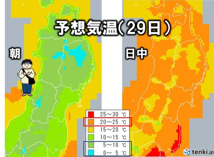 東北 今季初 あす朝は一桁台の気温 ブルっと寒い