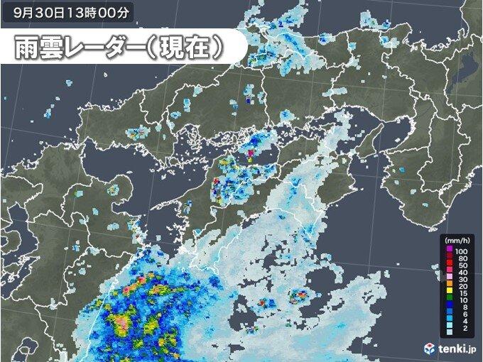 西日本で局地的に雨強まる 午後は近畿でも雨