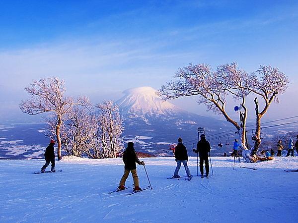 冬のニセコはまるで外国 !! 世界一の雪質を求め、各国のスキーヤーが集まる。日本人はどこ ?