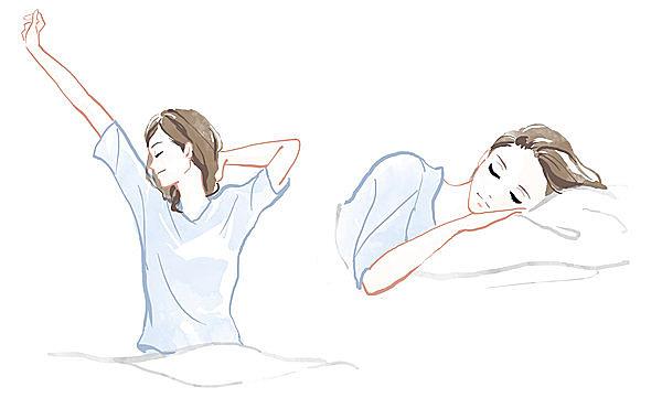ストレスからくる肌トラブルを防ぐ方法のひとつに、質のよい睡眠があります