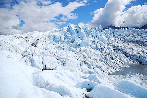 アラスカの氷河。
