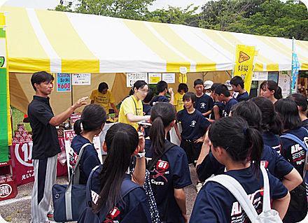 中学生ボランティアの皆さん36名(2016年7月28日愛知県尾張旭市内)