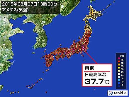 4位 東京の猛暑日8日連続 過去最長を記録