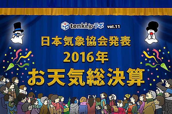 2016年お天気総決算~tenki.jpラボVol.11~