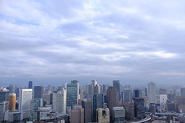 大阪のビル群を一望