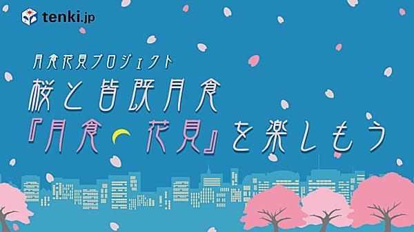桜と皆既月食「月食花見」を楽しもう~tenki.jpラボVol.5~その2