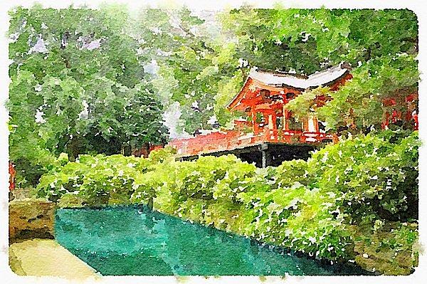 趣ある風情の根津神社。この時季は新緑が美しい!