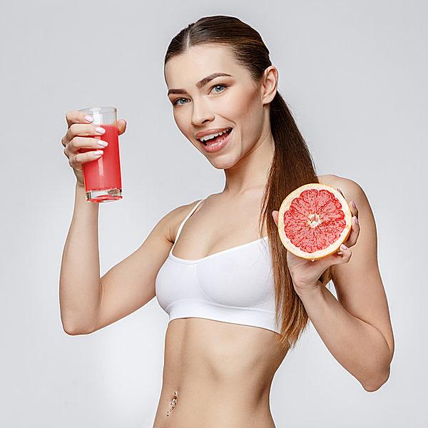 グレープフルーツ1個で1日の摂取量が補給できる