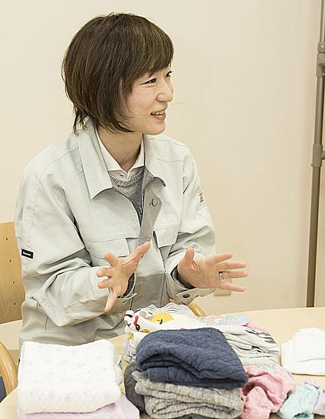 衣類乾燥のプロで1児の母の亀谷さん