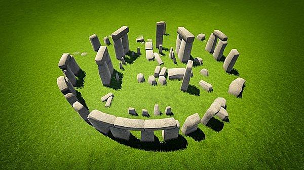 巨石を円形に組んで造られた「ストーンヘンジ」は、まさに神秘