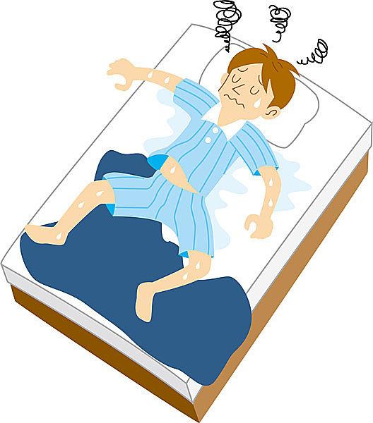 熱帯夜は体温が下がりにくい環境のため、寝苦しい