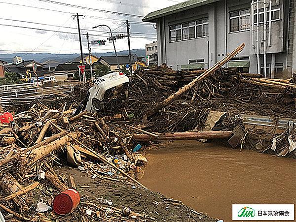 九州豪雨、福岡県朝倉市の状況