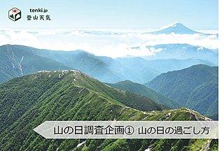 山の日調査企画① 山の日の過ごし方