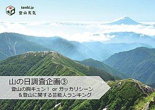山の日調査企画③ 登山の胸キュン!orガッカリシーン&登山に関する芸能人ランキング