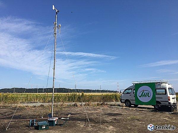 日本気象協会がドローンポートに設置した気象観測装置(気象センサー)
