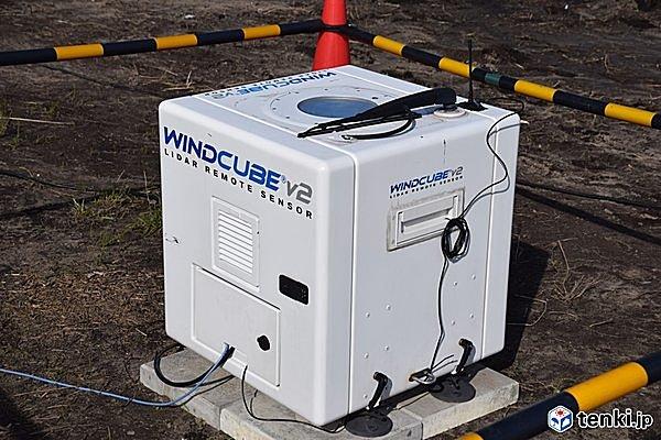 日本気象協会がドローンポートに設置した気象観測装置(ドップラーライダー)