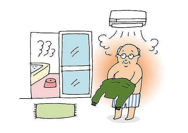 脱衣所や浴室の温度を上げておきましょう