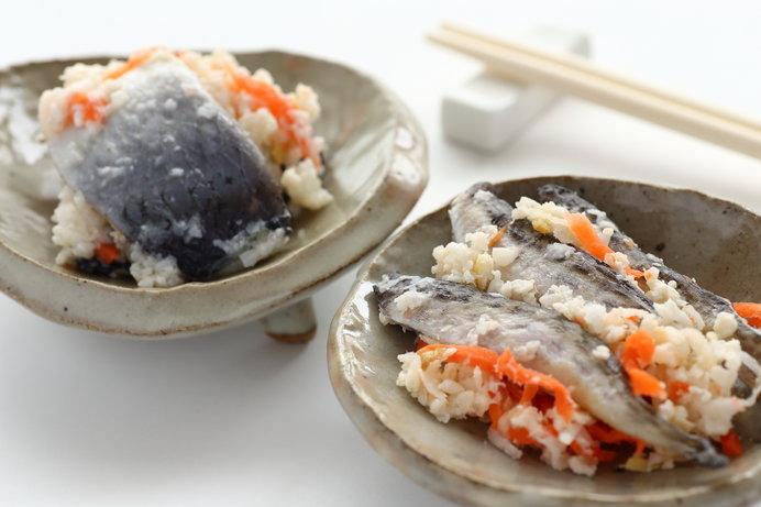 北海道の保存食、飯寿司は冬の定番。
