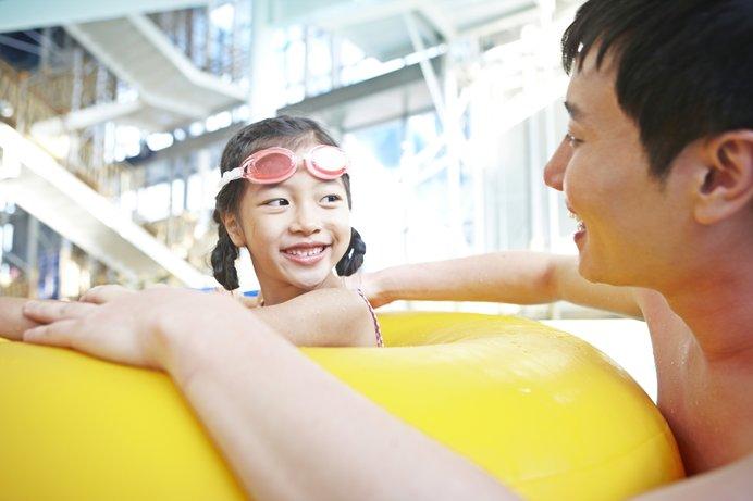 子どもと一緒に遊びながら運動できるのが魅力! ※画像はイメージ