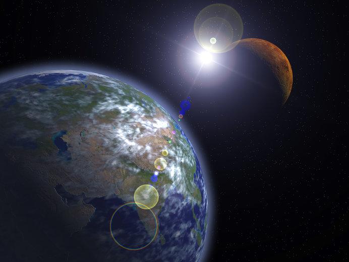 地球に最接近する火星を観察するチャンス!(画像はイメージ)