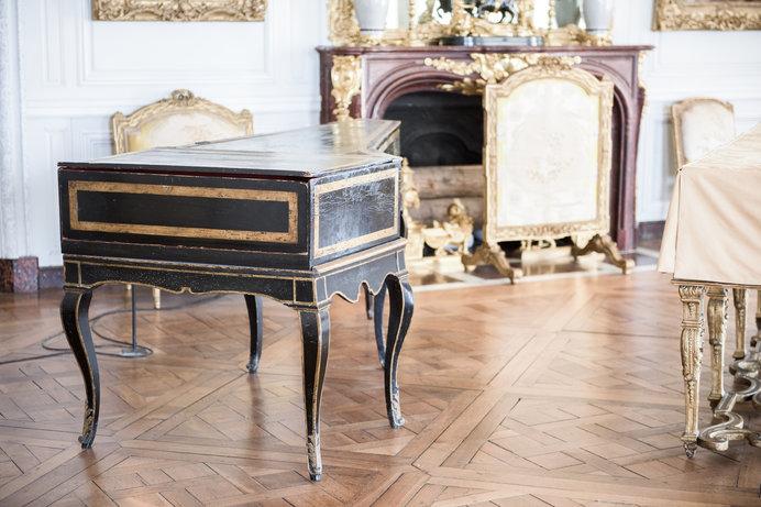 ヴェルサイユ宮殿内に残る、鍵盤楽器