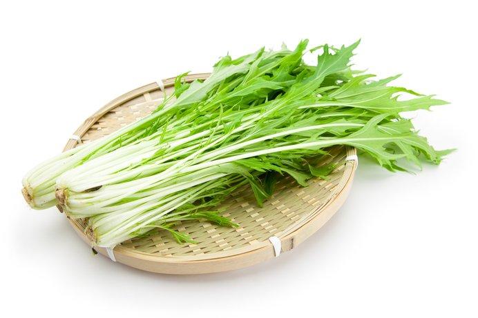 旬の水菜。サラダに、お鍋にたっぷり入れて味わいましょう