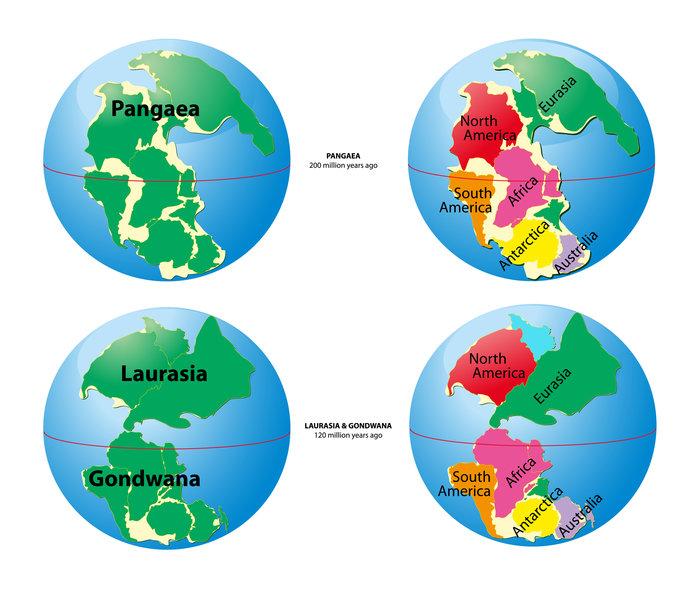約2億5000万年前の大陸は、巨大なパンゲアが1つだけ!
