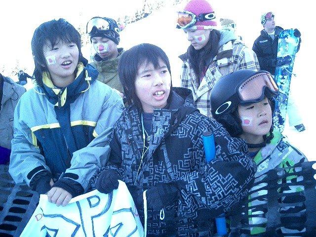 2006年、片山來夢選手(写真右)とウィスラー遠征に行き、W杯を観戦。それからわずか12年でオリンピックの舞台に!