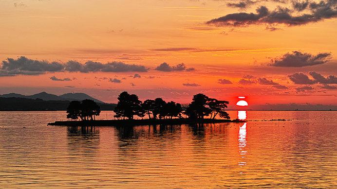 いろいろな表情を見せる宍道湖