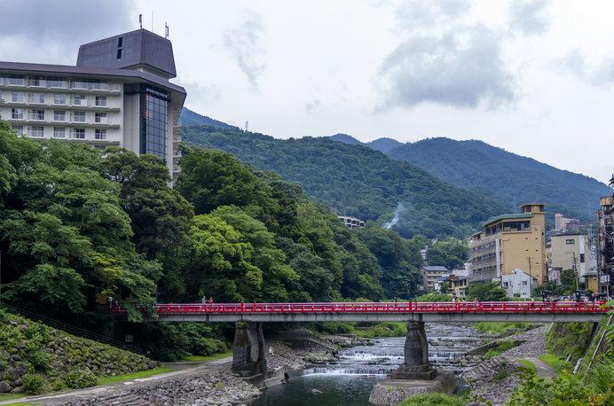 箱根湯本の「あじさい橋」