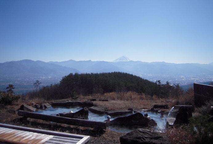 本物の富士山を眺めながらの温泉!
