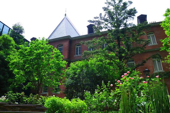 薔薇の季節の中庭・三菱一号館美術館