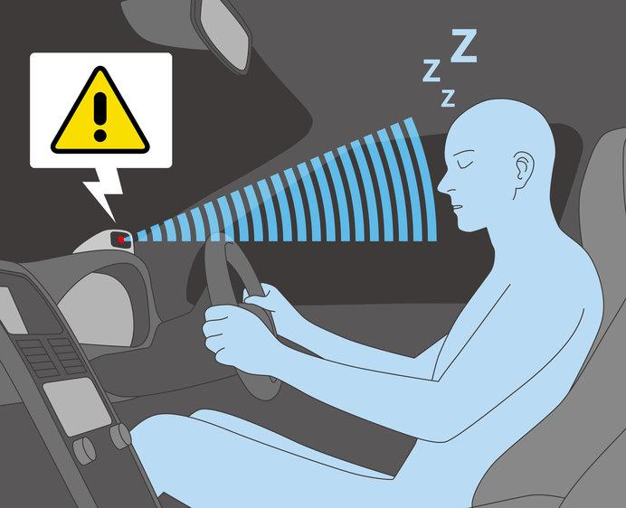 最新の車には、安全運転を促すため、ドライバーの体調を管理する機器も装備されています