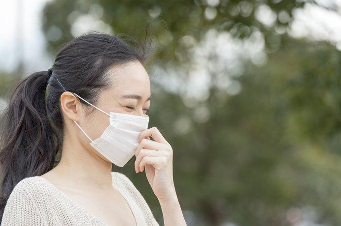風の強い日や気温の高い日はマスクを着用しよう!