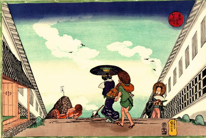 「東都名所 霞ヶ関」歌川国芳 (出典:Wikimedia Commons)