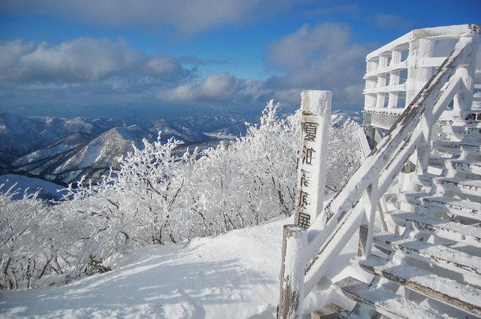 山頂展望台からの景色は絶景!